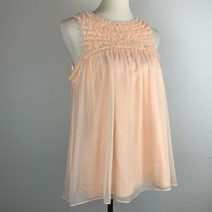 Flowy Sleeveless Peach ECI Blouse Large